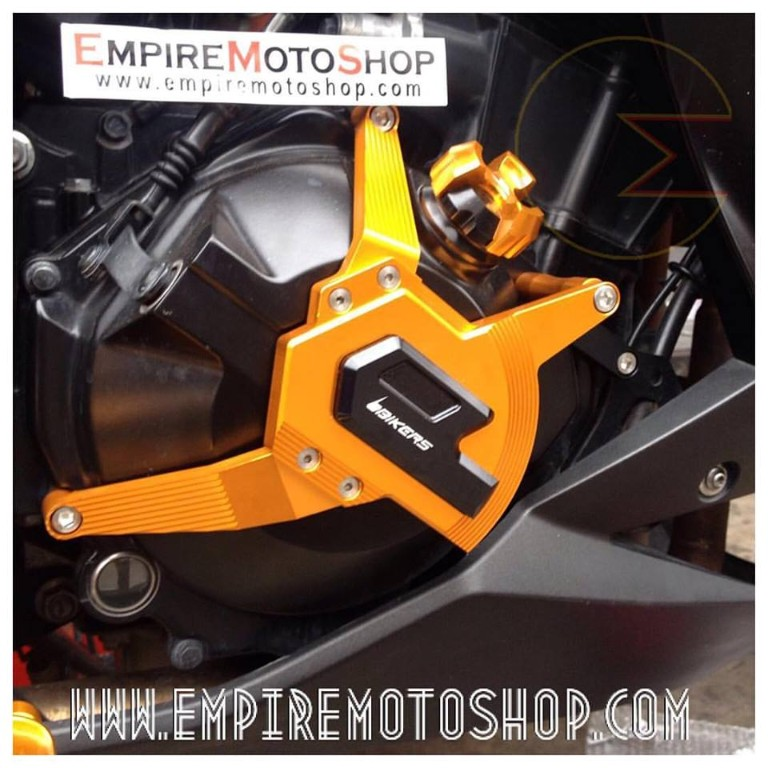 Engine Case Bikers Ninja 250 FI (Taiwan) Orange Terpasang sisi kanan